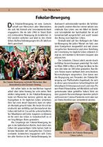 Erste Seite des Beitrages über die Fokolar-Bewegung
